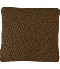 capa almofada tricot 45x45cm c/zíper sofa trico cod 1025 marron
