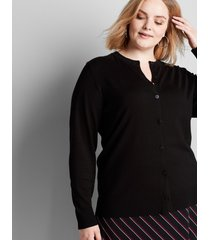 lane bryant women's button-front cardigan 22/24 black