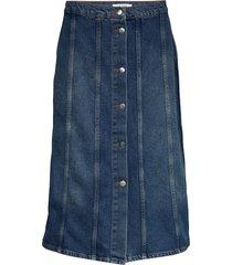 elissa skirt knälång kjol blå nué notes