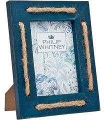 "philip whitney blue wash strips frame - 5"" x 7"""