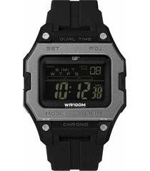 reloj negro cat digi squared digital