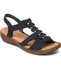 62850-14 shoes summer shoes flat sandals blå rieker