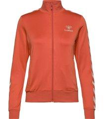 hmlnelly zip jacket sweat-shirt tröja orange hummel