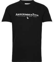 anf mens graphics t-shirts short-sleeved svart abercrombie & fitch