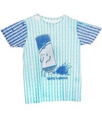 camiseta t-shirt spray color estampado mini us - estampado - 14 unico - estampado - menino - dafiti