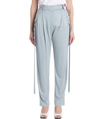 burberry strap detailed slouchy trousers