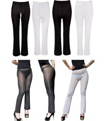 women see-through sheer mesh trousers pants transparent tight stretch sexy hot