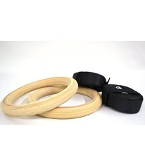 aros para gimnasia de madera con correas everlast