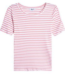 camiseta mujer abertura en manga color rosado, talla 6