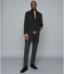 reiss coal - overcoat with removable insert in charcoal, mens, size xxl