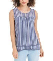 style & co mesh sleeveless tank top, created for macy's