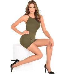 medias pantalón supervelada nylon 100% samsara para mujer – canela