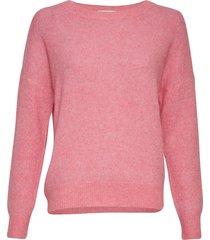 moss copenhagen pullover femme mohair roze
