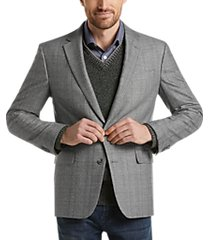 awearness kenneth cole gray woven tic slim fit sport coat