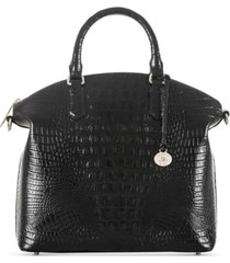 brahmin large duxbury melbourne embossed leather satchel