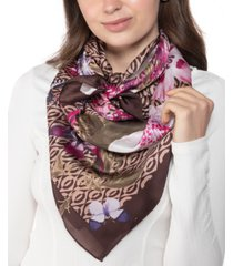 giani bernini floral loop square scarf, created for macy's