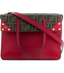 fendi regular flip tote bag - red