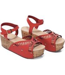 sandalias rojo mp