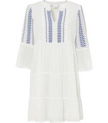abito tunica con ricami (bianco) - bodyflirt