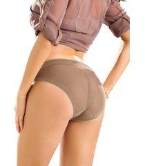 panty estilo bikini transparente de control suave - panty café leonisa