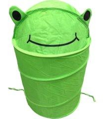 cesto organizador roupa suja brinquedos dobrável infantil verde