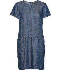 desert tshirt dress kort klänning blå superdry