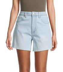 joe's jeans women's vintage easy trail denim shorts - trail - size 23 (00)