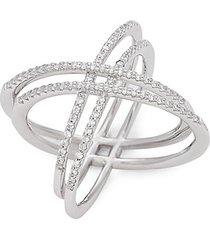 sterling silver & crystal spherical ring
