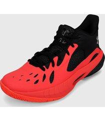 tenis basketball rojo-negro under armour havoc 3 beta 628