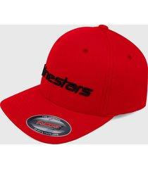 gorra rojo-blanco alpinestars