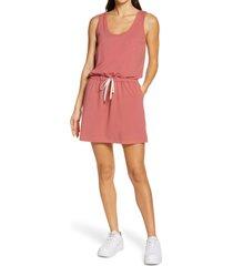 zella gwen ponte knit tank dress, size x-large in pink mauve at nordstrom