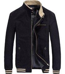 chaqueta casual hombres moda 100% algodón h813 negro