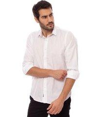 camisa aleatory manga longa classic masculina