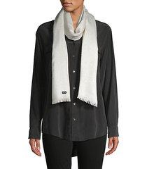 textured fringe-trim scarf
