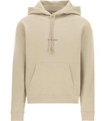 classic logo hoodie, beige