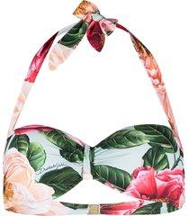 dolce & gabbana floral bandeau bikini top - pink