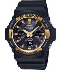 g-shock men's solar analog-digital black resin strap watch 53mm