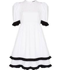batsheva spring prairie knee-length dress - white