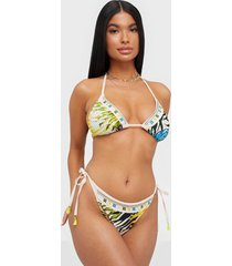 river island leaf print embellished brief trosa