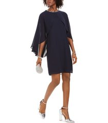 vince camuto embellished capelet dress