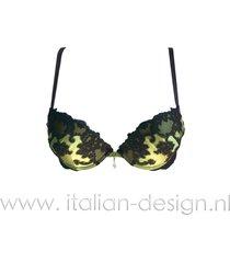 ambra lingerie bh's silk oil push bh groen 0746
