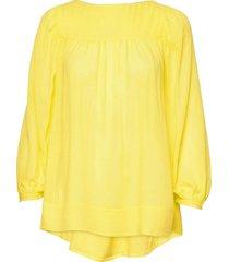 rodebjer nitty blouse lange mouwen geel rodebjer
