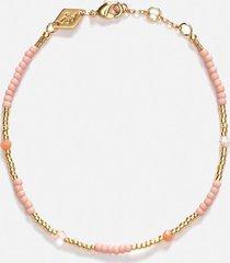 anni lu women's clemence bracelet - pink sand