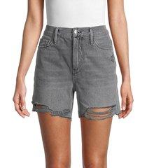 frame women's le tour raw-edge denim shorts - acera - size 23 (00)
