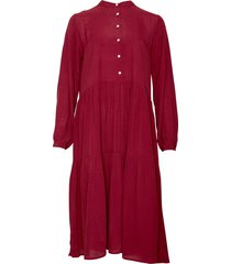 noella noella lipe dress crepe viscose burgundy