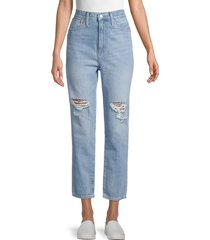 madewell women's high-rise distressed mom jeans - gilford - size 29 (6-8)