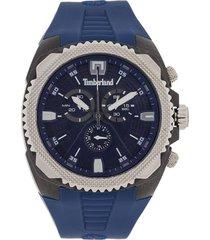 reloj azul navy/negro mate/plateado timberland,
