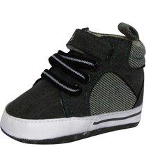 zapatillas lona  con cordón y velcro pumucki