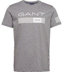 d1. 13 stripes ss t-shirt t-shirts short-sleeved grå gant