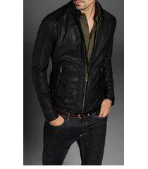 handmade mens slim fit biker leather jacket men fashion black leather jackets